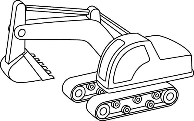 tractopelle dessin facile