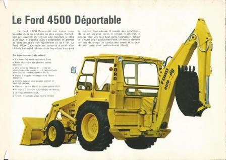 tractopelle ford 4500