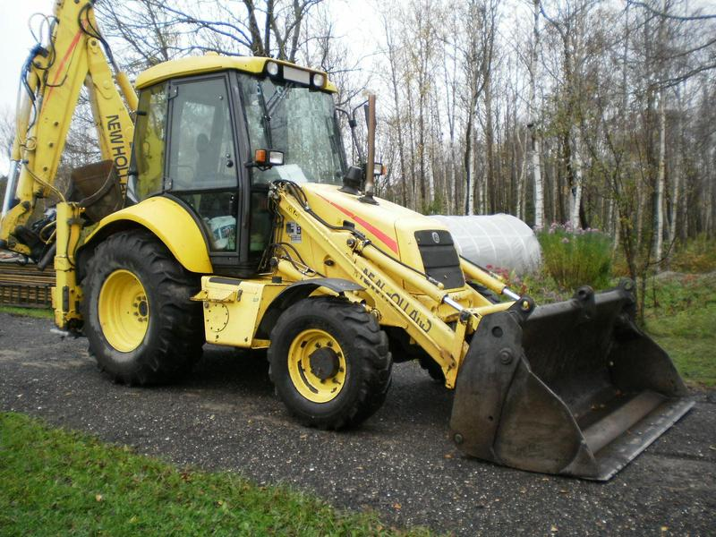 tractopelle new holland lb 110