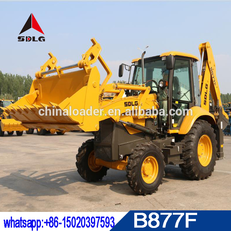 tractopelle sdlg b877