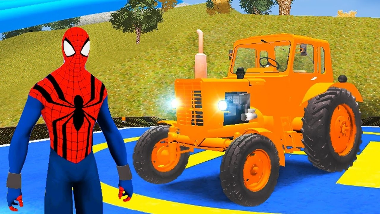 Tractopelle Spiderman
