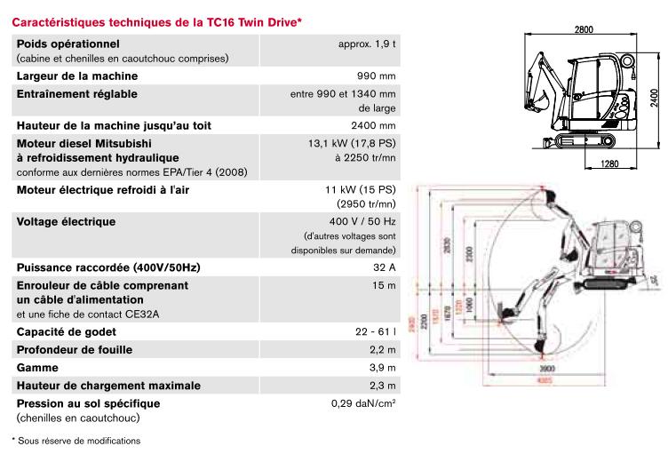 tractopelle terex fiche technique